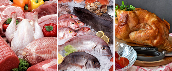 FRESH POULTRY & MEAT & SEAFOOD