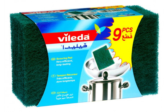 VILEDA- SCOURING PADS 9'S - SPECIAL OFFER