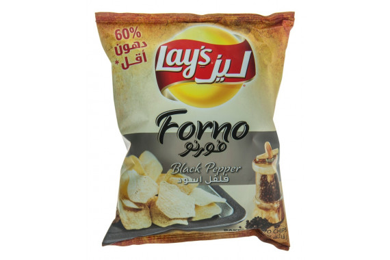 LAY'S FORNO BLACK PEPPER BAKED POTATO CHIPS - 43 G