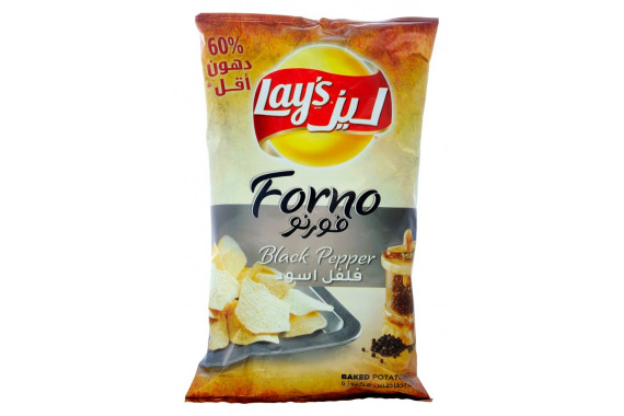 LAY'S FORNO BLACK PEPPER BAKED POTATO CHIPS - 170 G