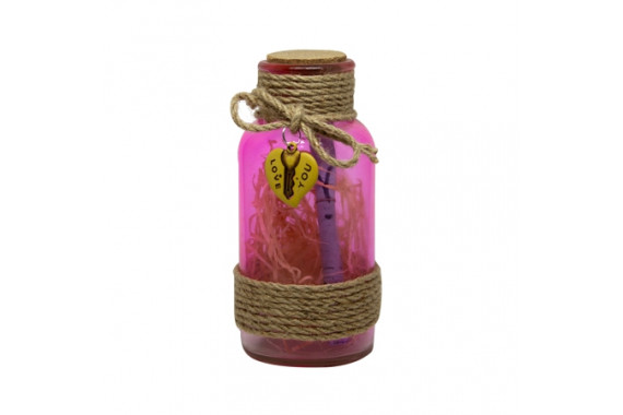 COLORED GLASS CONTAINER LARGE