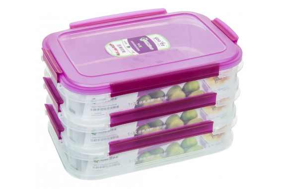 PLASTIC CONTAINERS 3 TIERS