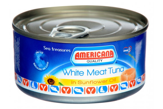 AMERICANA WHITE MEAT TUNA IN SUNFLOWER OIL 160G