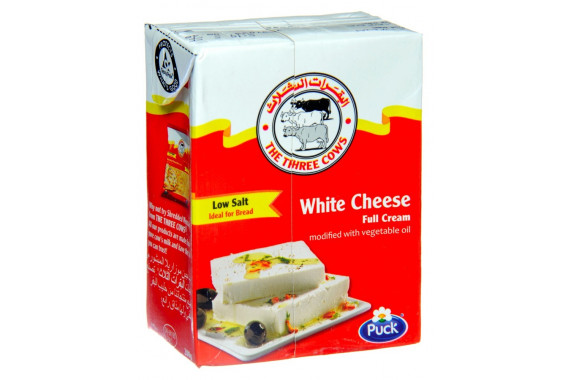 3COWS DANISH WHITE CHEESE WITH VEGETABLE OIL LOW SALT-200 G