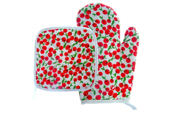 POT HOLDER AND GLOVES SET 2 PIECES