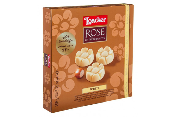 LOACKER ROSE DOLOMITES GIFT BOX WHITE 150 G