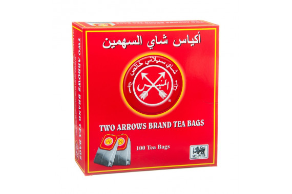 ALMUNAYES TWO ARROWS RED TEA BAGS 100'S