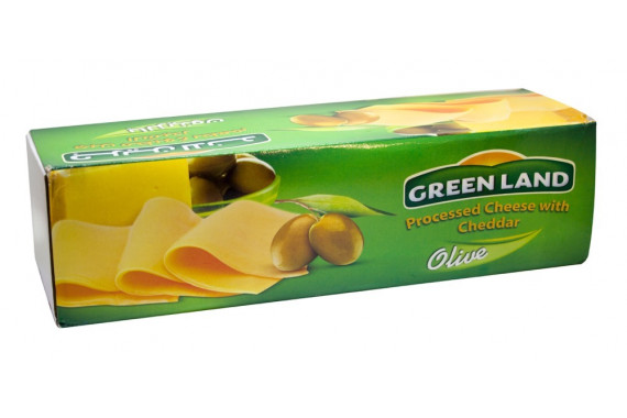 GREENLAND CHEDDAR BLOCK CHEESE WITH OLIVE KG