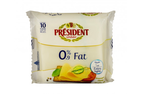 PRESIDENT CHEESE SLICES 0% FAT 200G
