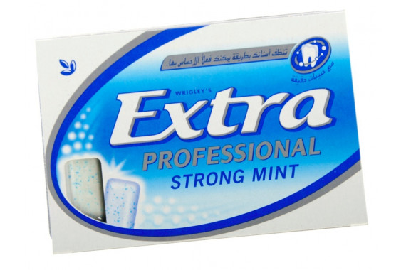 WRIGLEY'S EXTRA PROFESSIONAL STRONG MINT PELLETS- 14G