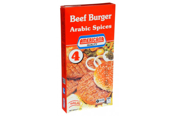 AMERICANA- BEEF BURGER WITH ARABIC SPICES -224 G