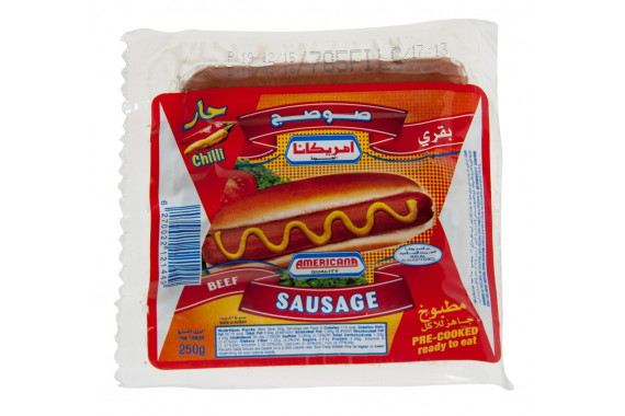 AMERICANA - BEEF CHILLY SAUSAGE PACKET 250 G