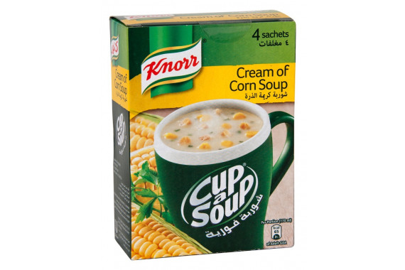 KNORR CUP-A-SOUP CREAM OF CORN 22G