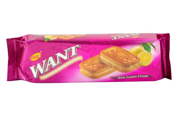 WANT - SANDWICH BISCUITS WITH LEMON - 90 G