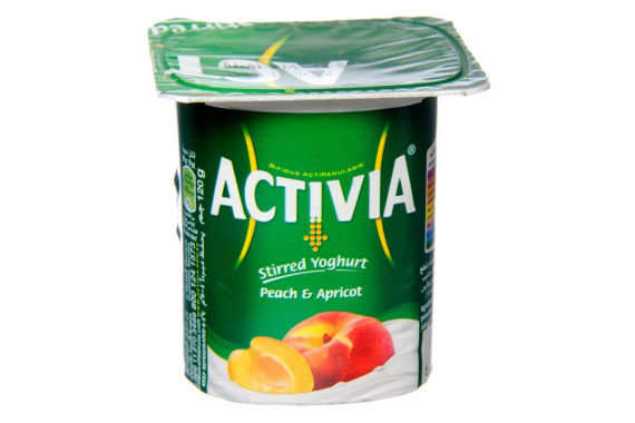 ACTIVIA YOGHURT WITH PEACH & APPRICOT - 120 G