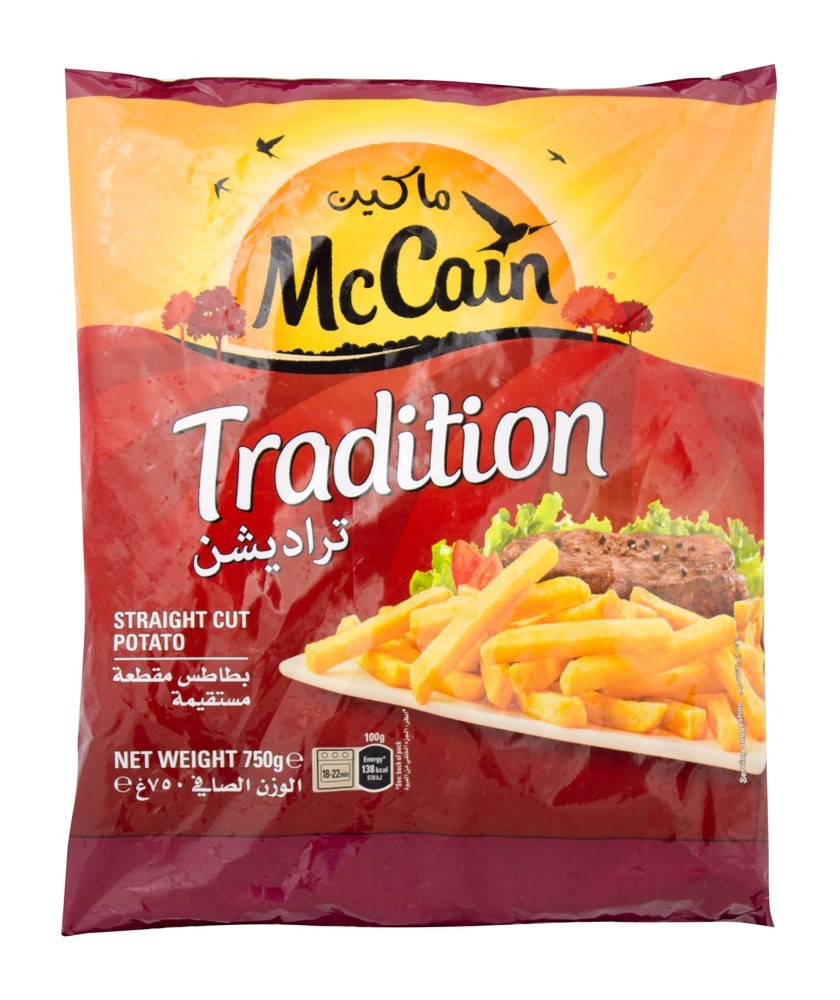 MCCAIN FRENCH FRIES TRADITION 750G