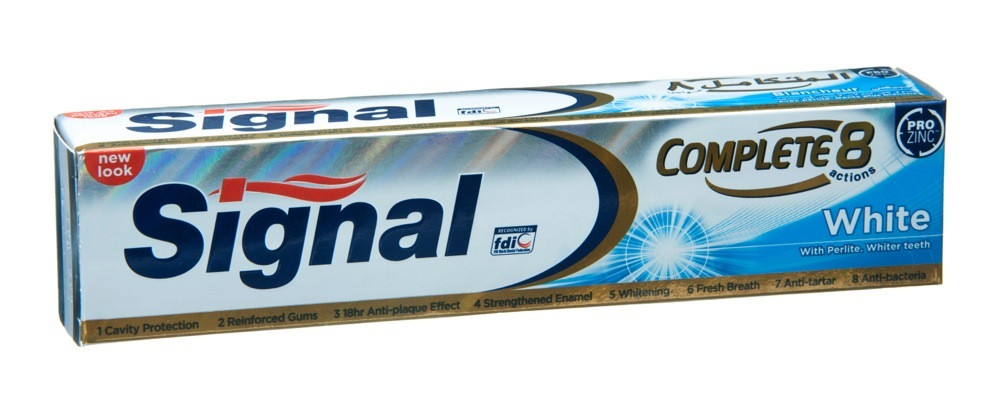 SIGNAL TOOTHPASTE COMPLETE 8 WHITE 120 ML