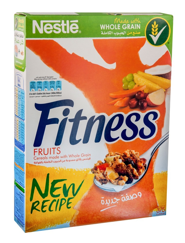 NESTLE FITNESS & FRUITS CEREAL 375 G