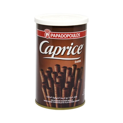 CAPRICE COCOA WAFER ROLLS 115G