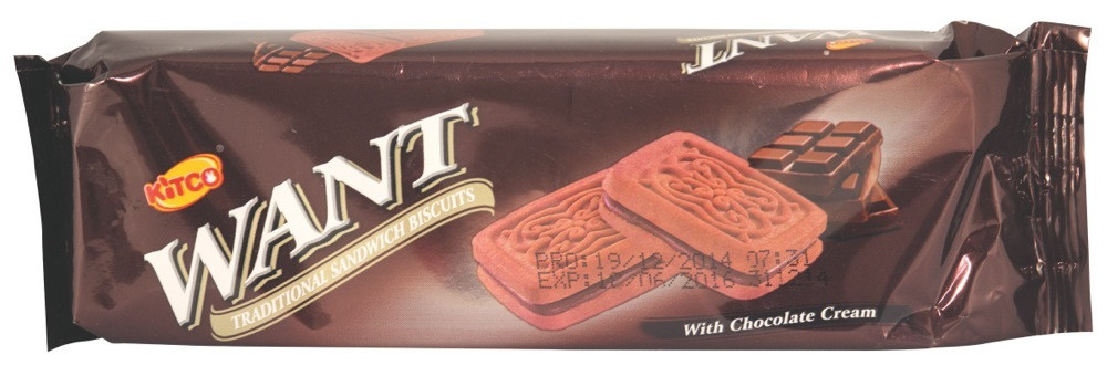 WANT- SANDWICH BISCUITS WITH CHOCOLATE - 90 G