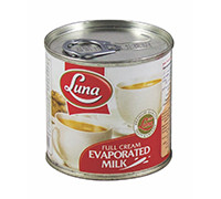 LUNA EVAPORATED FULL CREAM MILK- 170 G