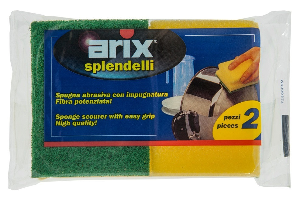 ARIX - SYNTH SPONGE SCOURER WITH GRIP - 2'S