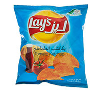 LAYS' POTATO CHIPS WITH KETCHUP 23G