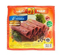 NAIF BEEF MORTADELA WITH PEPPER SLICES 150 G
