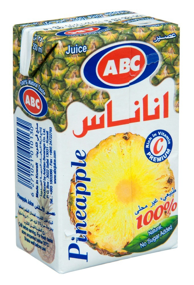ABC PINEAPPLE JUICE 250 ML