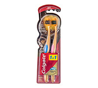 COLGATE TOOTHBRUSH 360 CHARCOAL GOLD 1+1