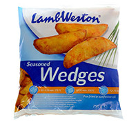 LAMB WESTON SEASONED WEDGES SKIN-ON 750 G