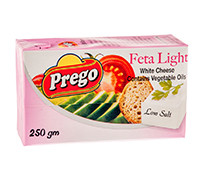 PREGO FETA LIGHT CHEESE 250G
