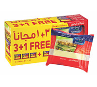 ALMARAI CHEESE SLICES LOW FAT 4 PCS X 200G