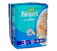 PAMPERS BABY DIAPER S3 18'S