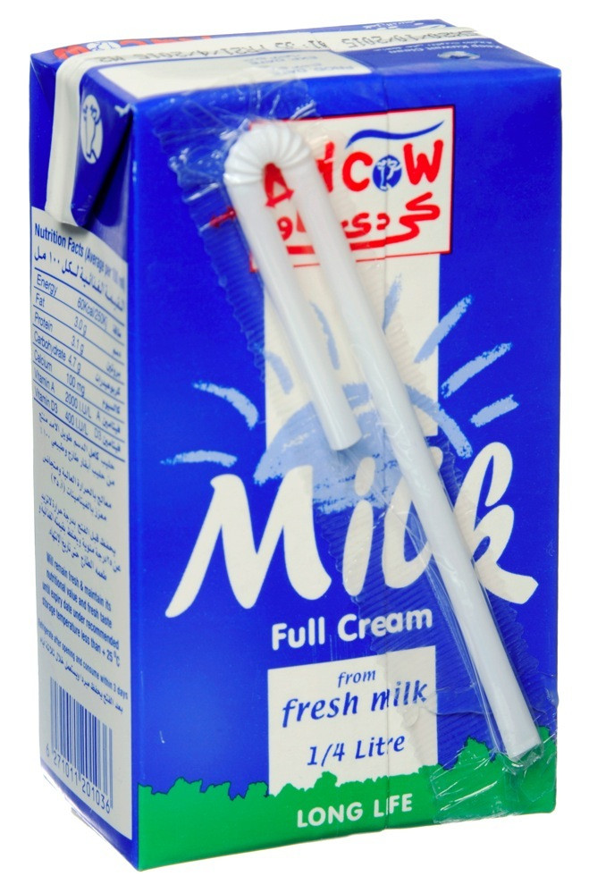 KDCOW LONG LIFE FULL-CREAM MILK - 250 ML