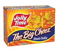 JOLLY TIME - THE BIG CHEEZ- ULTIMATE CHEDDAR MICROWAVE POPCORN - 289 G