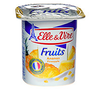 ELLE&VIRE DAIRY DESSERT WITH PINEAPPLE - 125 G