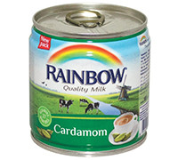 RAINBOW EVAPORATED MILK - WITH CARDAMOM - 170 G