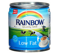RAINBOW EVAPORATED MILK- LIGHT- 170 G