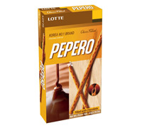 LOTTE PEPERO NUDE CHOCOLATE BISCUIT STICK 50 G