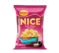 KITCO- NICE - POTATO CHIPS WITH SALT & VINEGAR - 18 G