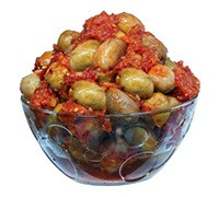 EGYPTIAN GREEN OLIVES WITH SPICES